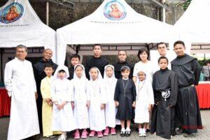 Kebahagiaan dari pelayanan bersama Romo Suryo SJ, Suster dan Romo Cilik serta Romo Anicetus Bali OAD beserta Frater Frater dari ordo OAD di Hari Panggilan.