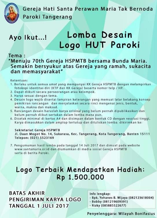 Lomba Desain Logo HUT Paroki