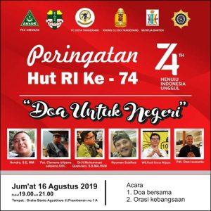 Keragaman dan Persatuan pada Malam HUT RI ke 74 di Kota Tangerang